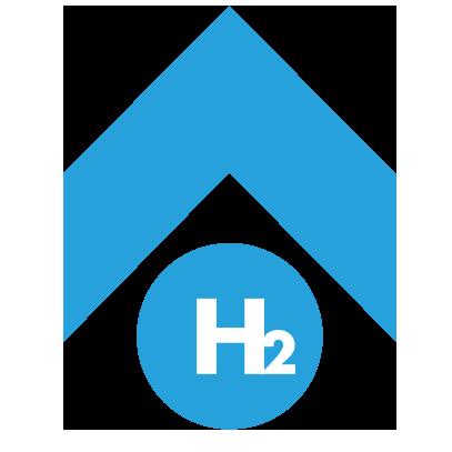 Augel-baut-Wasserstoff-Symbol